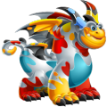 The Holi Dragon in Dragon City