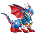 The Independence Day Dragon in Dragon City