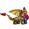 The King Solomon Dragon in Dragon City