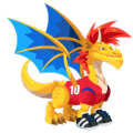 The Korean Soccer Dragon in Dragon City