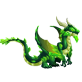 The Kryptonite Dragon in Dragon City