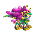The Mardi Gras Dragon in Dragon City