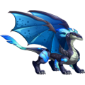 The Nightwind Dragon in Dragon City