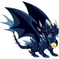 The Pure Dark Dragon in Dragon City