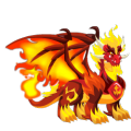 The Pure Flame Dragon in Dragon City