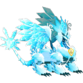 The Pure Ice Dragon in Dragon City