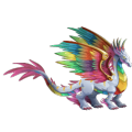 The Rainbow Dragon in Dragon City