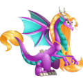 The Rapunzel Dragon in Dragon City