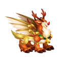 The Rudolph Dragon in Dragon City