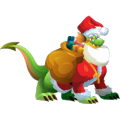 The Santa Dragon in Dragon City
