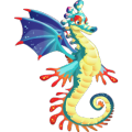 The Seahorse Dragon in Dragon City