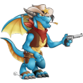 The Sheriff Dragon in Dragon City