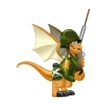 The Soldier Dragon in Dragon City