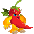 The Spicy Dragon in Dragon City