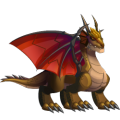 The Sunset Dragon in Dragon City