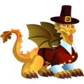 The Thanksgiving Dragon in Dragon City
