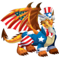 The Uncle Sam Dragon in Dragon City
