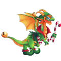 The Xmas Elf Dragon in Dragon City