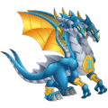 The Zodiac Gemini Dragon in Dragon City