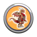 Amazone Dragon Button
