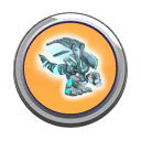 Atlantean Dragon Button