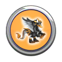 Black Swan Dragon Button