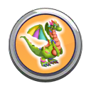 Clay Dragon Button