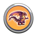 Dark Jaws Dragon Button