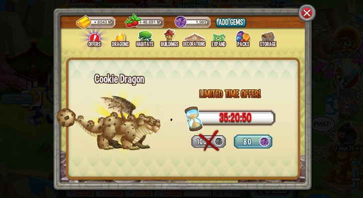 Cookie Dragon for 80 Gems