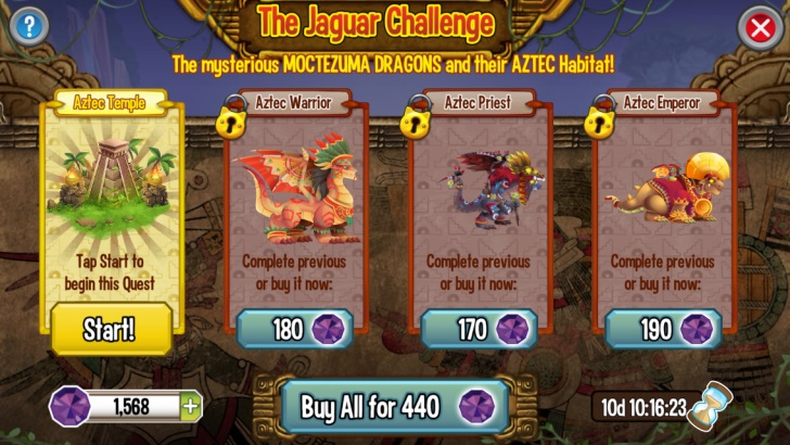 Quests in The Jaguar Challenge