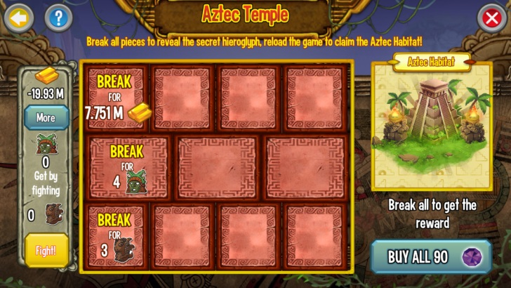 Requirements for the Aztec Temple Quest