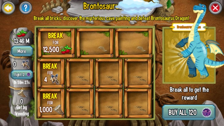 Quest Requirements for Brontosaurus portion of the Jurassic Challenge