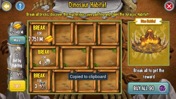 Quest Requirements for the Jurassic Habitat portion of the Jurassic Challenge
