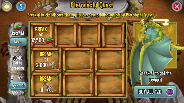Quest Requirements for Pterodactyl portion of the Jurassic Challenge