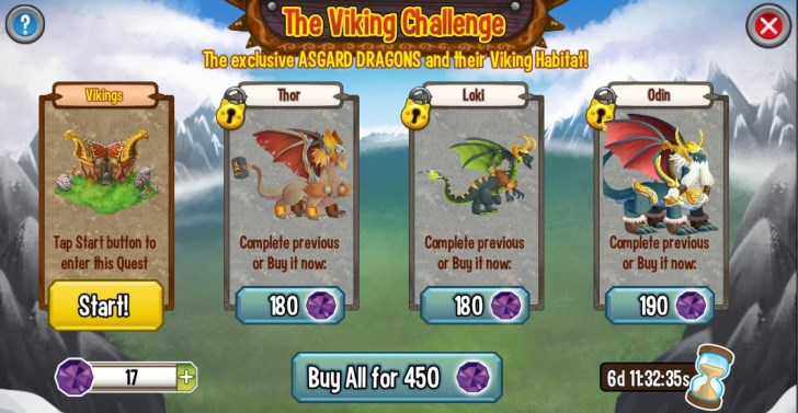 The Viking Challenge (Android and iOS)