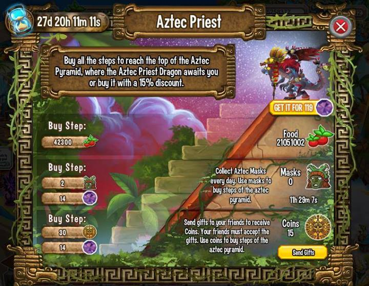 Quest for the Aztec Priest in Dragon City