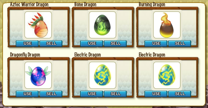 Storage Eggs, Including Aztec Warrior After the Crash