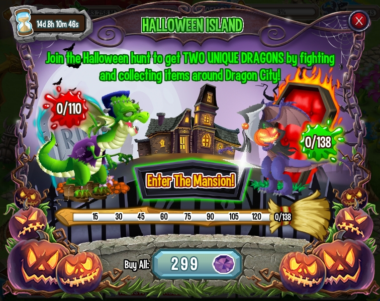 Halloween Island, Frankie and Halloween Dragon Quest