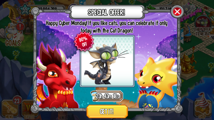 Cat Dragon discount on iOS and Android