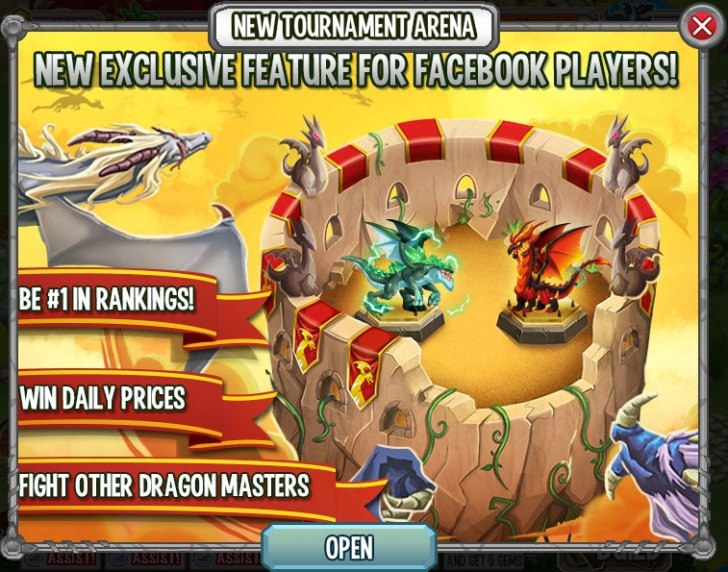 Tournament Arena is new on Facebook App!
