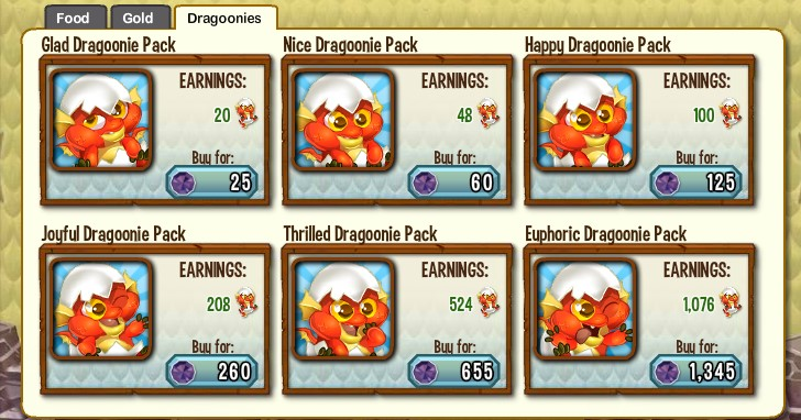 Buy Dragoonies with Gems