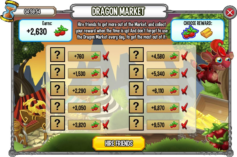 Dragon Market is a great source of Food
