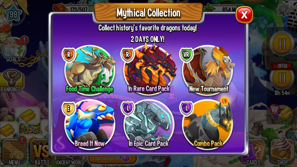 mythical collection and growth spurt