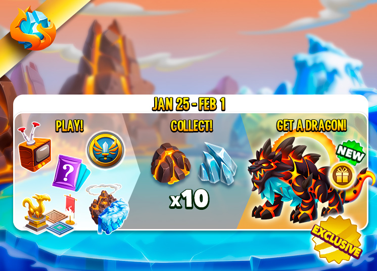 Find 10 Of The Fire And Ice Decorations Get FireIce Dragon