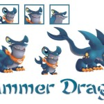 The stages of development of the Hammer dragon