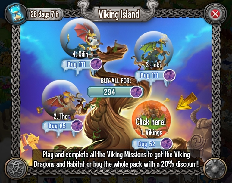 Dragon City's new Quest is the Viking Island